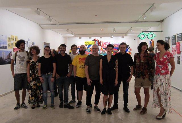 Artistas de la muestra 'Valladolid con carácter'  29-8-2018