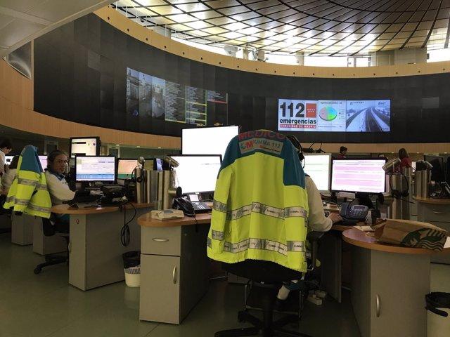 Centro de Emergencias del 112 en la Comunidad de Madrid