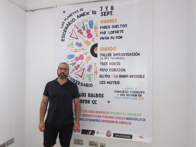 Öscar Trigoso, presidente de la Asociación de Músicos de Extremadura