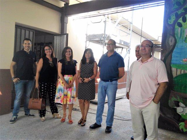 Visita a las obras en el colegio San Isidoro de Torredelcampo.