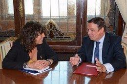 Jordà y Planas, durante la reunión