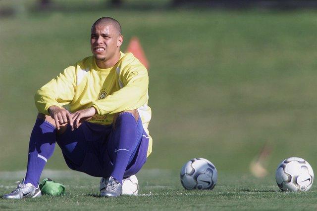 Ronaldo Nazário con la selección brasileña