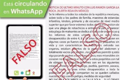 Cuidado con las 'fake news' sobre el robo de niños en seis estados de México