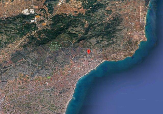 Localización de Benicàssim (Castellón)