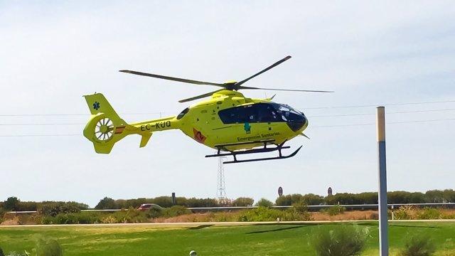 Helicóptero del 112 de Extremadura