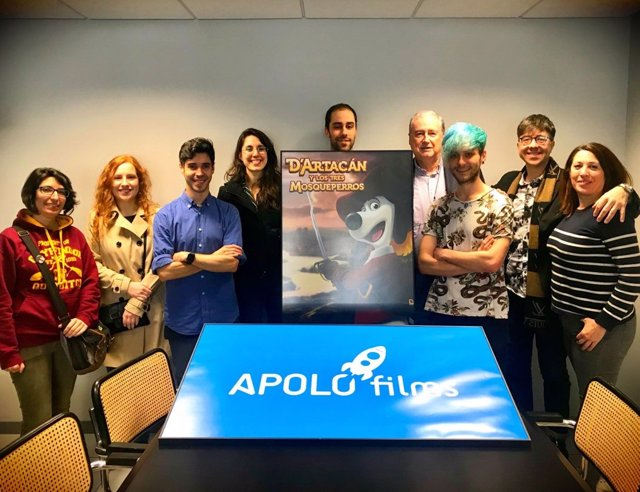 Equipo de Apolo Films con su presidente, Claudio Biern Boyd.