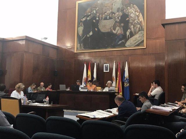 Pleno del Ayuntamiento de Santander (agosto 2018)