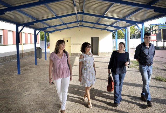 Visita actuaciones de Diputación en Nueva Jarilla