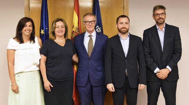 María José Rienda, Francesca Tur, José Guirao, Isaac Castellano y Ángel Guerrero