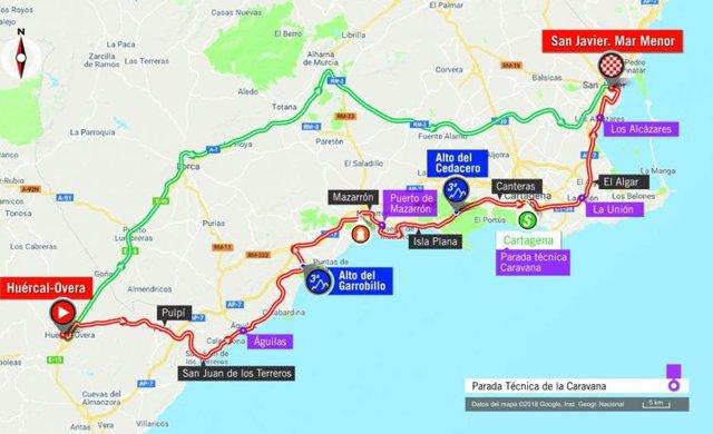 Mapa Etapa 6 de La Vuelta 2018