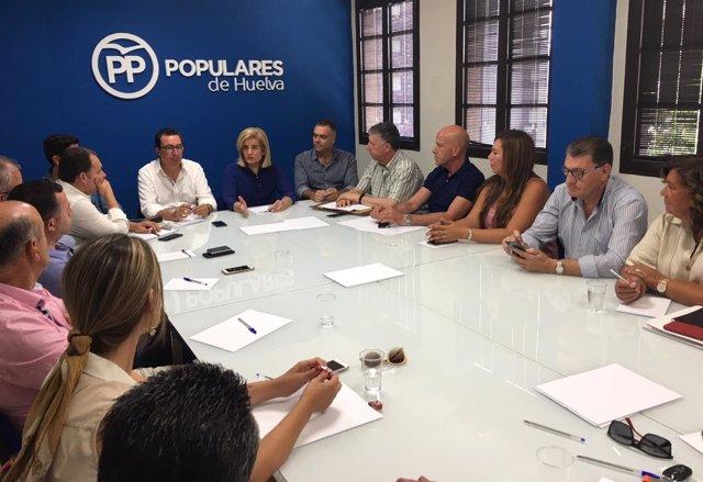 Comité de dirección del PP de Huelva.