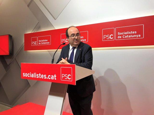 El líder del PSC Miquel Iceta en una imagen de archivo.