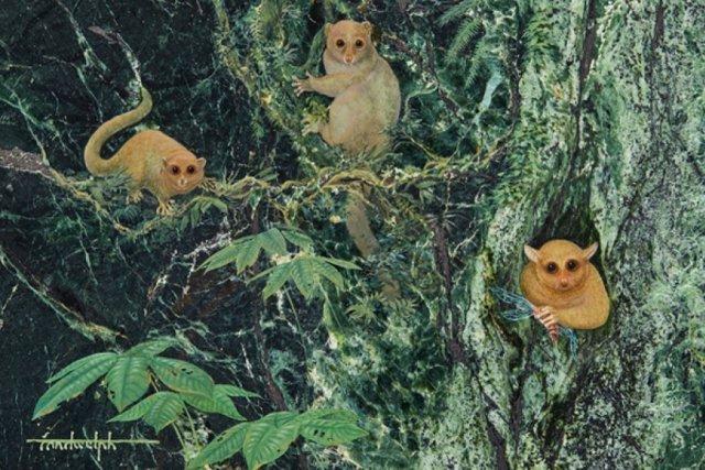 Recreación de cómo pudieron ser las tres especies extintas
