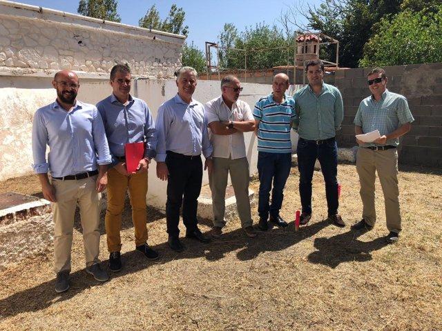 Visita de la Diputación para revisar un proyecto de obras