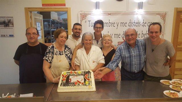 Celebración del tercer aniversario del Centro de Día Santa Clara de Jaén.