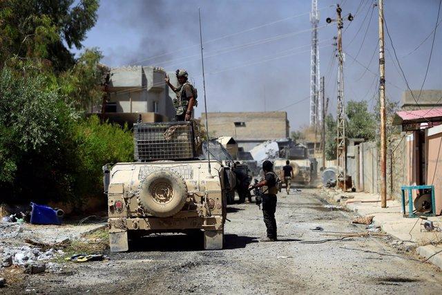 Miembros del grupo de Contraterrorismo de Iraq