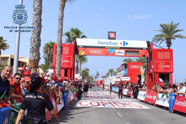 La 73 edición de La Vuelta a su paso por Roquetas