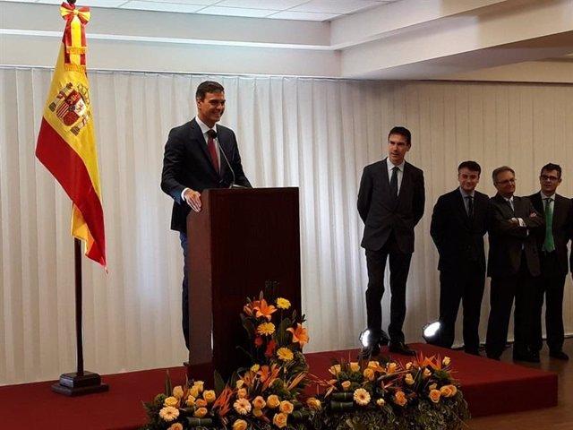 Foto de Pedro Sánchez en su visita a Bolivia