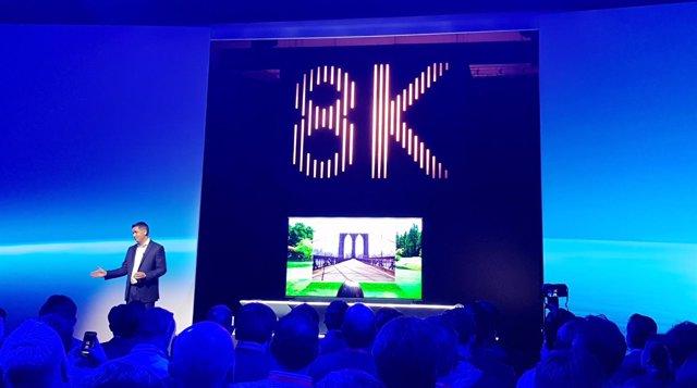 Presentación de televisores Samsung 8K en IFA 2018