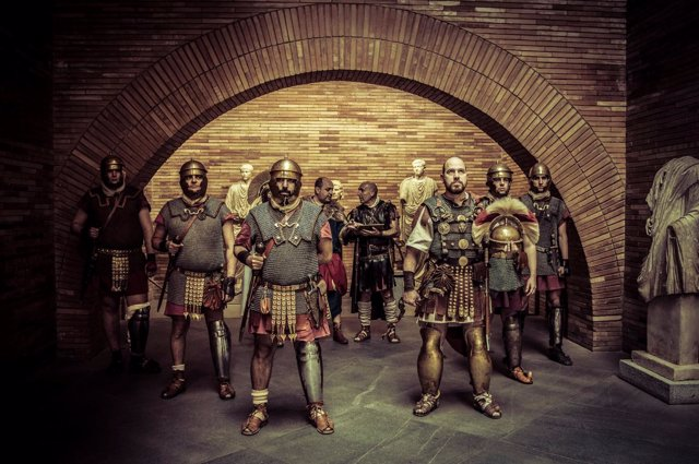 Un grupo recreacionista de época romana en Mérida