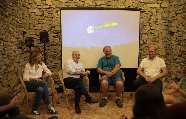 El pesidene de la dPH, Miguel Gracia, en la Muestra de Cine de Ascaso