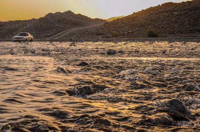 Imagen de precipitaciones e inundaciones extremas