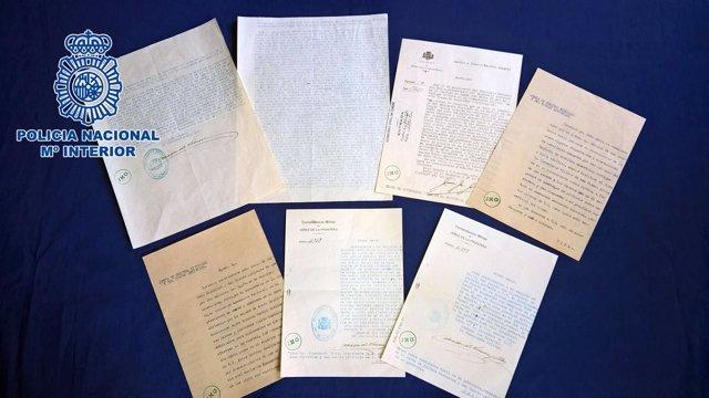 Documentos históricos de la Guerra Civil recuperados