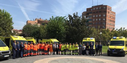 """Javier Lambán repone los """"lastimados"""" servicios sanitarios con 88 nuevos vehículos dotados de la última tecnología"""