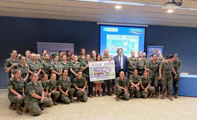 La ONCE presenta un nuevo cupón por la incorporación de la mujer en el Ejército