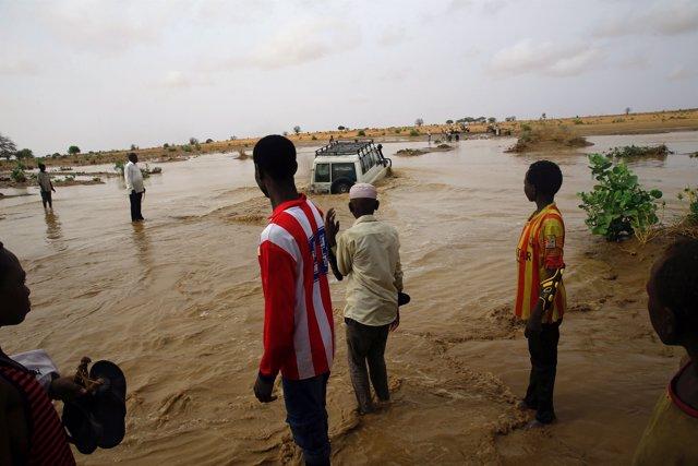 Inundaciones en Sudán del Sur durante la temporada de lluvias.