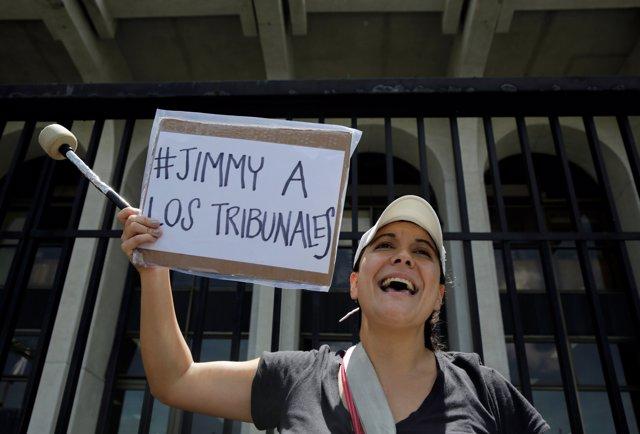 Protesta contra el presidente de Guatemala, Jimmy Morales (ARCHIVO)