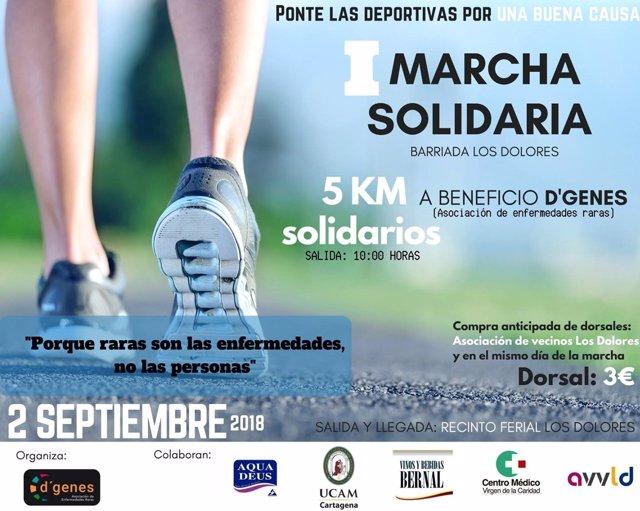 D'Genes organiza este domingo en Cartagena la I Marcha Solidaria