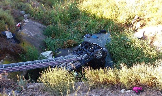 Accidente en la N-2, a la altura de Peñalba.