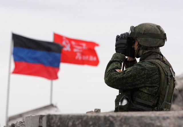 Miliciano separatista en Donetsk