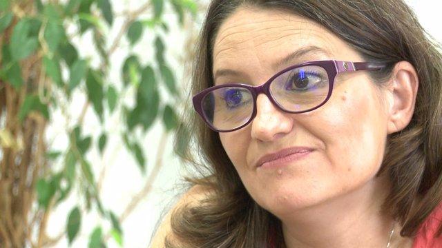 Mónica Oltra en la enrevista
