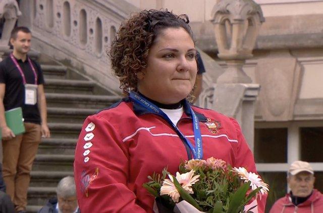 Andrea Marcos, tras proclamarse campeona de Europa