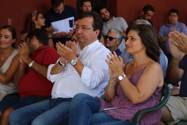 Fernández Vara y Raquel Medina