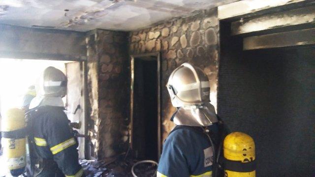 Incendio en un hotel de Costa Ballena, en Rota (Cádiz)