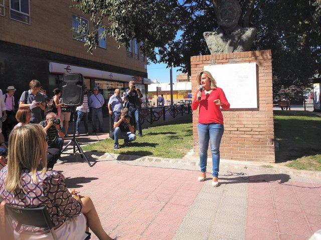 Alegría presenta su precandidatura a las primarias del PSOE-Zaragoza ciudad.