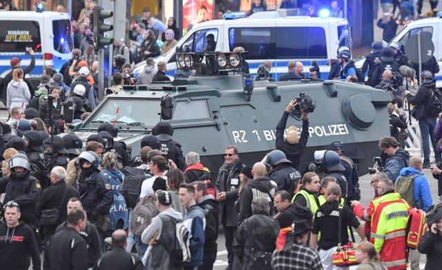 Manifestación de la ultraderecha en Chemnitz