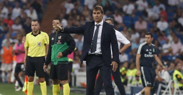 El entrenador español del Real Madrid, Julen Lopetegui