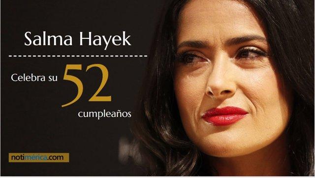 Salma Hayek celebra su 52 cumpleaños
