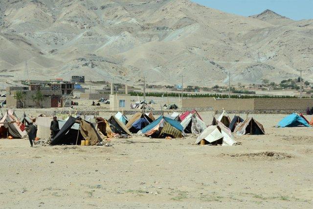 Desplazados por la sequía en Herat