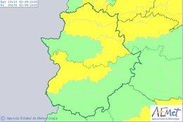 Avisos meteorológicos en Extremadura