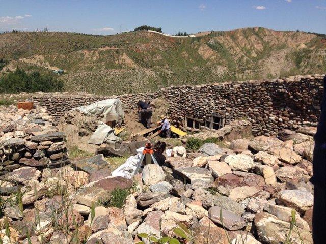 Yacimiento prehistórico del Cerro de la Encina, en Monachil (Granada)