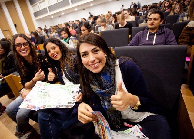 Estudiantes erasmus en la US