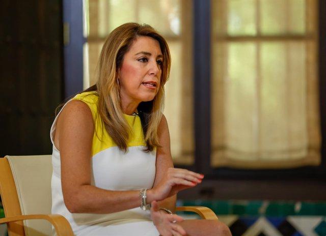 La presidenta de Junta de Andalucía, Susana Díaz
