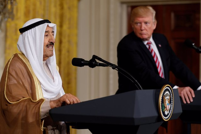 Sabá al Ahmad al Jaberal Sabá y Donald Trump