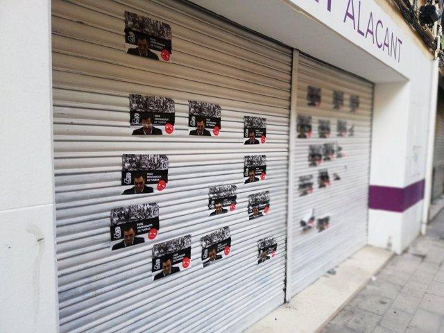 Sede de Podemos en Alicante, este domingo