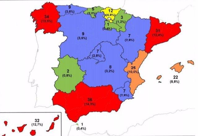 Ahogamientos en España hasta el 31 de agosto
